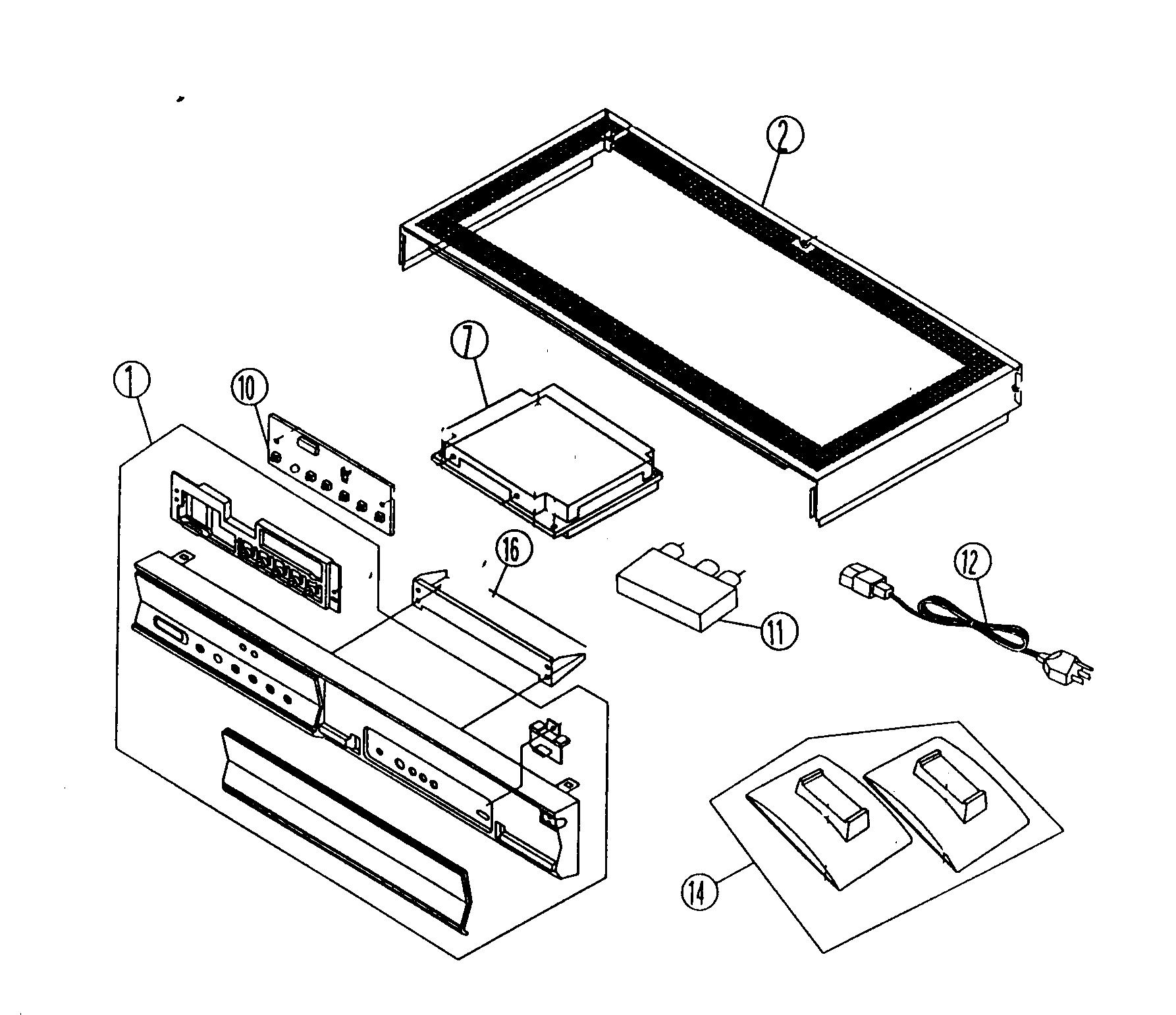 Hitachi model 42HDT50 plasma television genuine parts