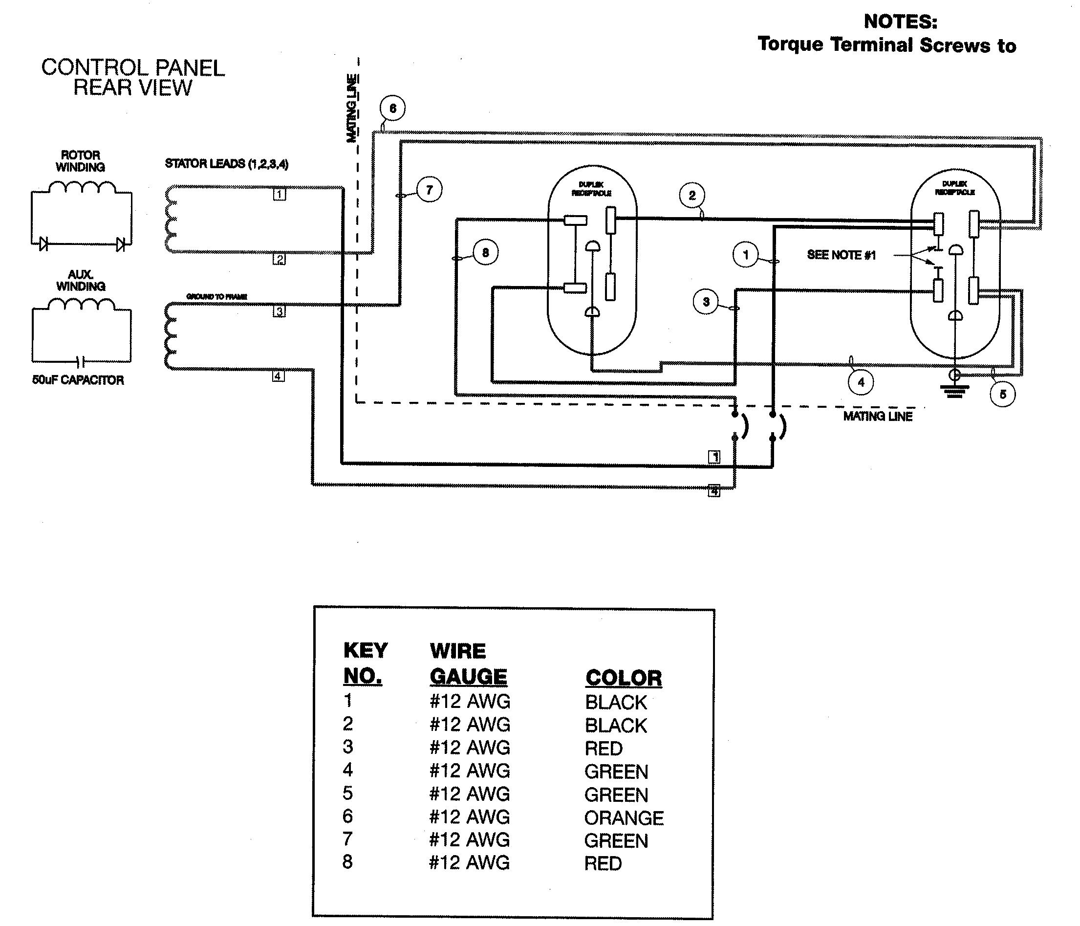 Devilbiss model GB5000-4 generator genuine parts