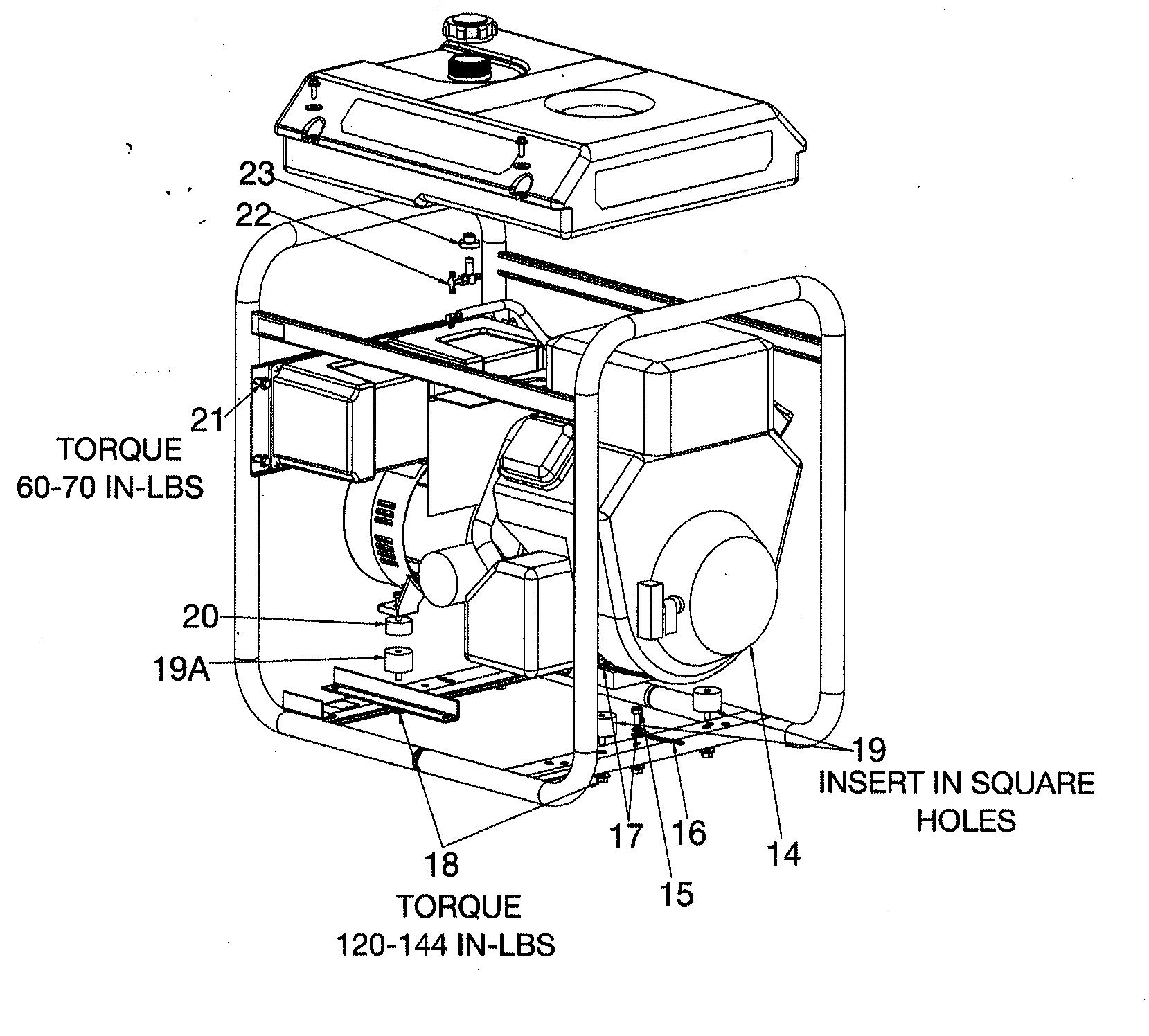 Devilbiss model GBVE8000-1 generator genuine parts