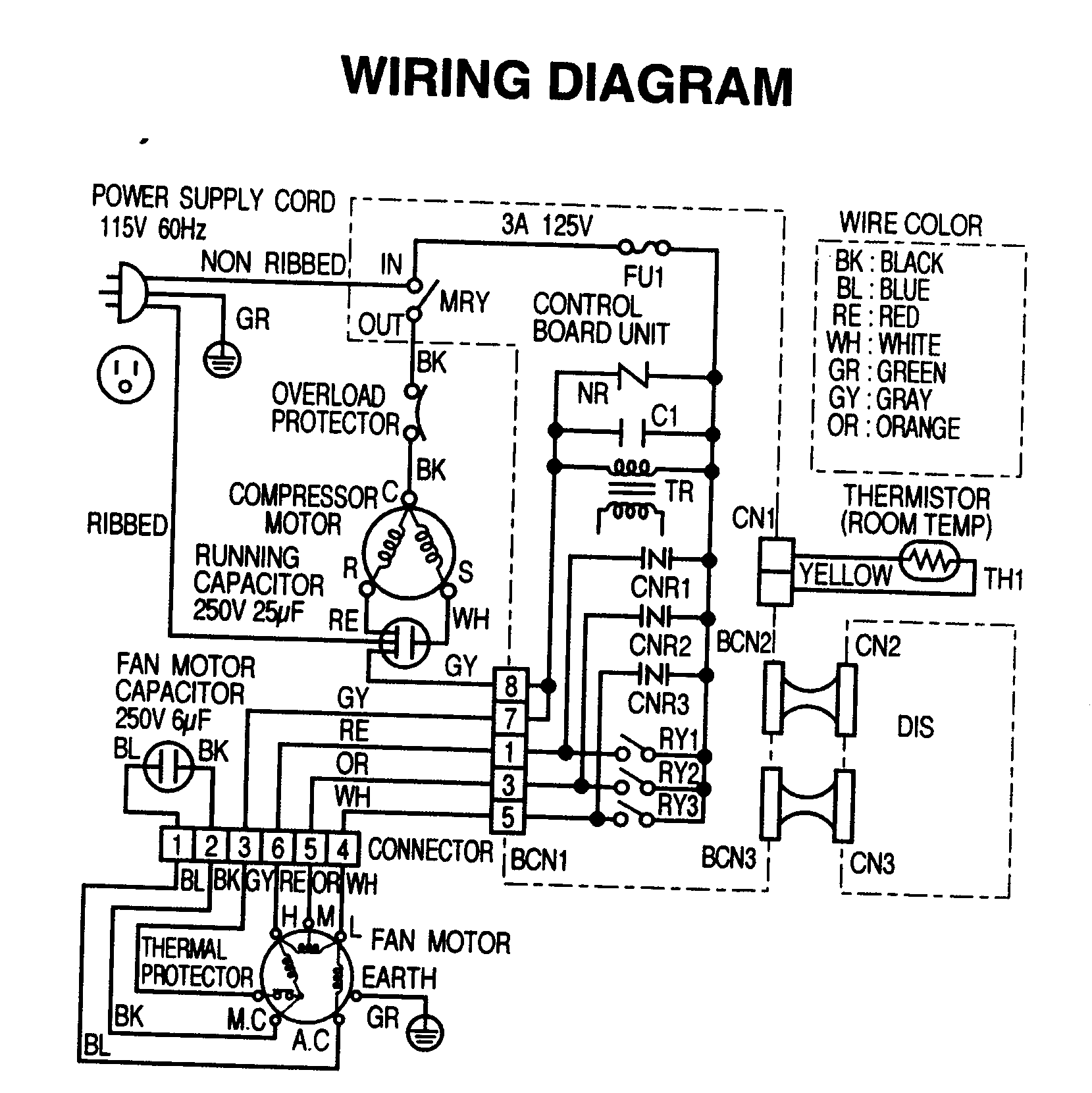Room Air Conditioner Wiring Diagrams Old Air Conditioner