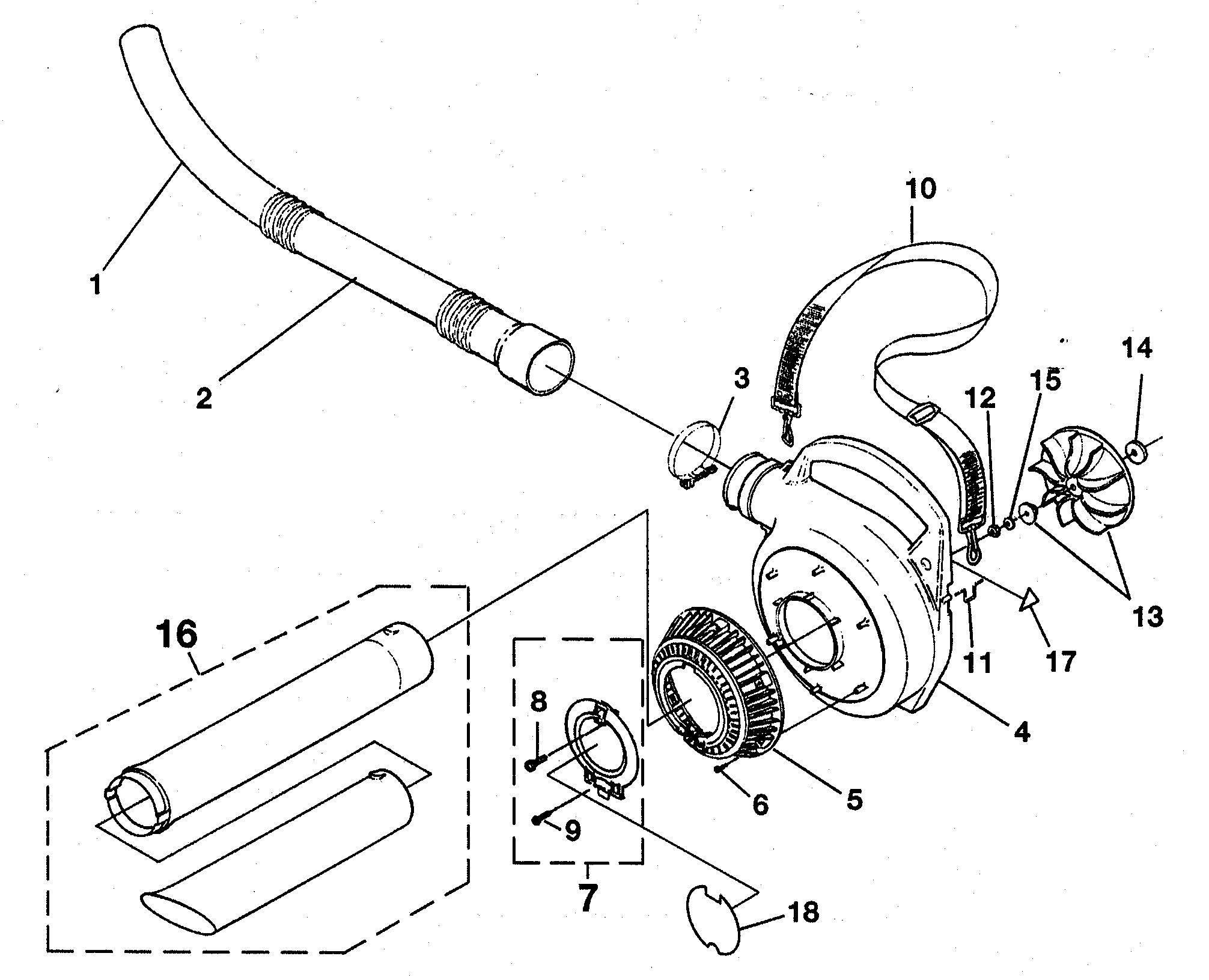 Homelite model UT08121 blower, gas genuine parts