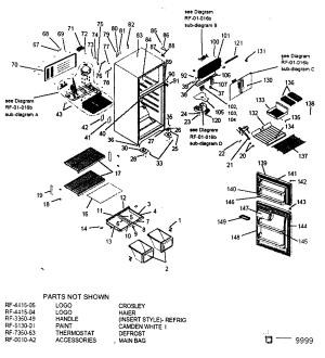 HAIER REFRIGERATOR Parts   Model HTE14WAAWW   Sears PartsDirect