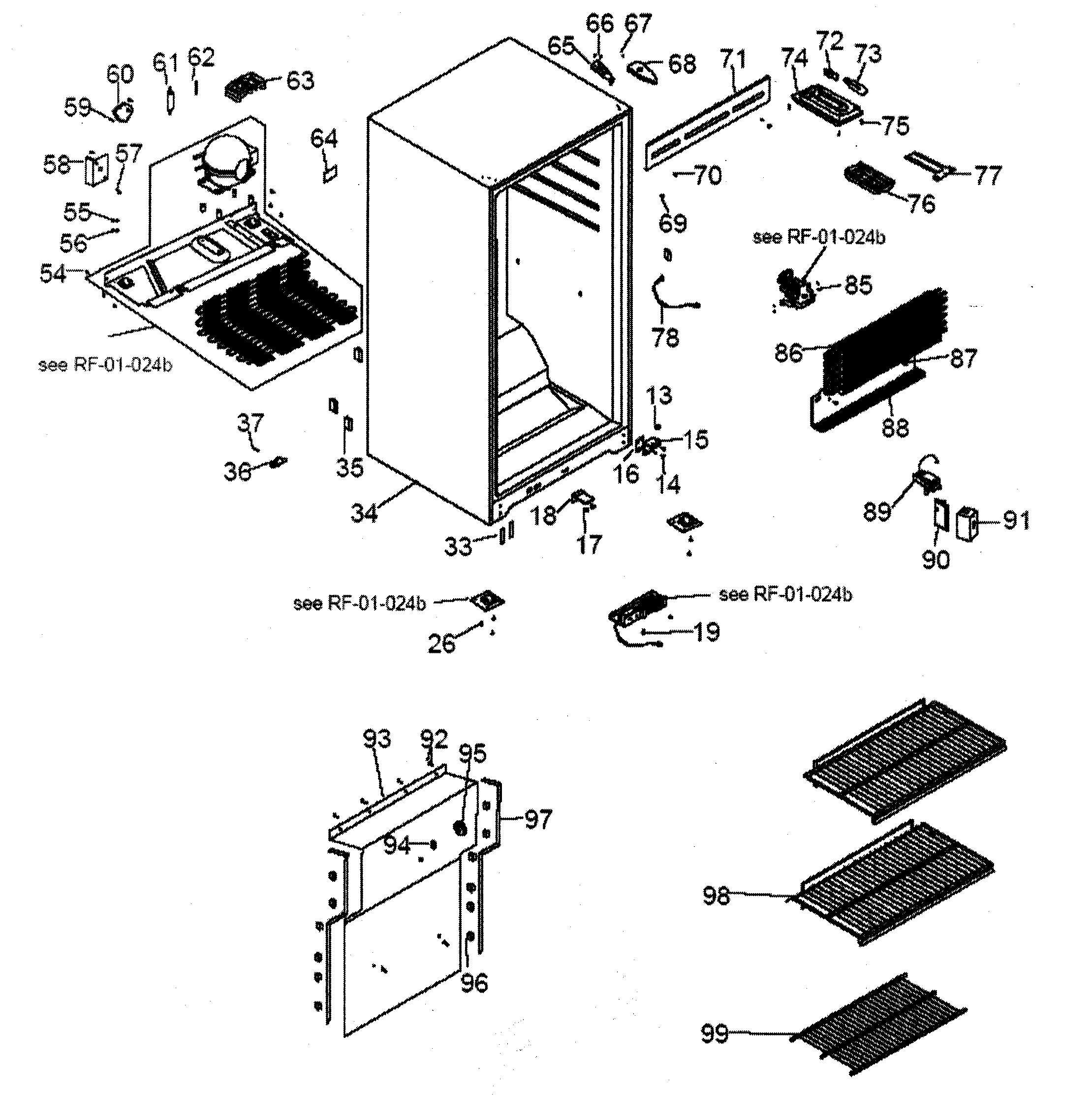 Haier model HUF138PA upright freezer genuine parts