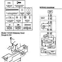 Broan Range Hood Wiring Diagram Wall Outlet Model 113023 Genuine Parts Diagra