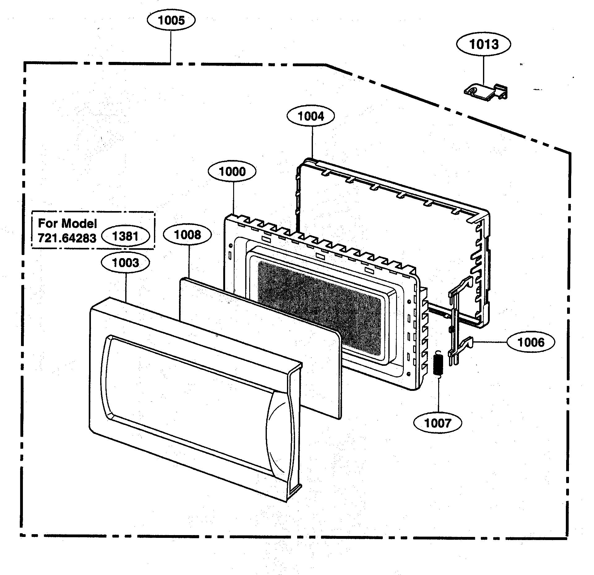 Kenmore-Elite model 72164289301 countertop microwave