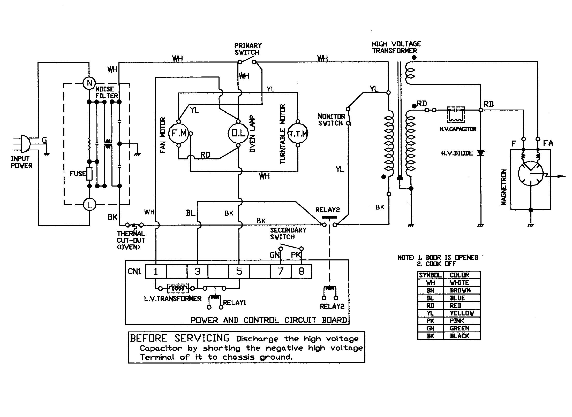 Microwave Transformer Wiring Diagram Microwave Fan Wiring