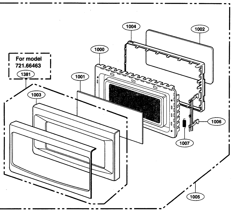 Kenmore model 72166469500 countertop microwave genuine parts