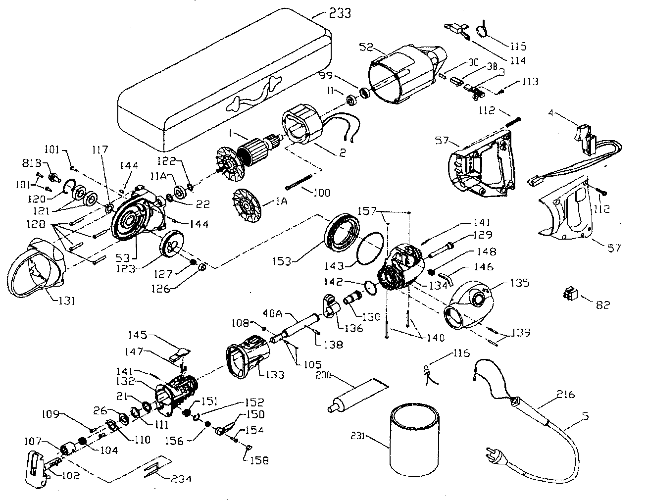 Porter-Cable model 740 saw reciprocating genuine parts