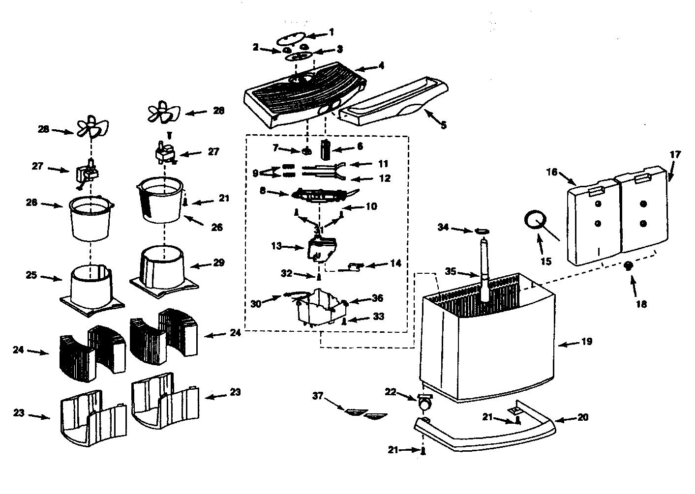 Kenmore model 758154140 humidifier genuine parts