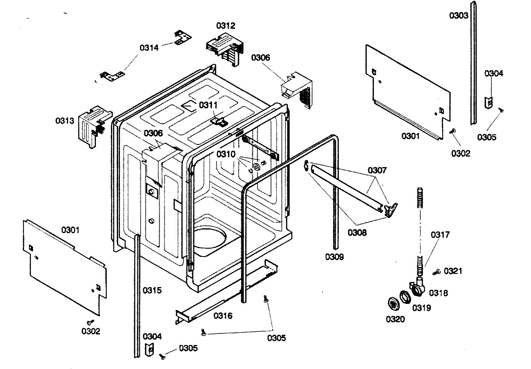 Bosch model SHX33A05UC/21 dishwasher genuine parts