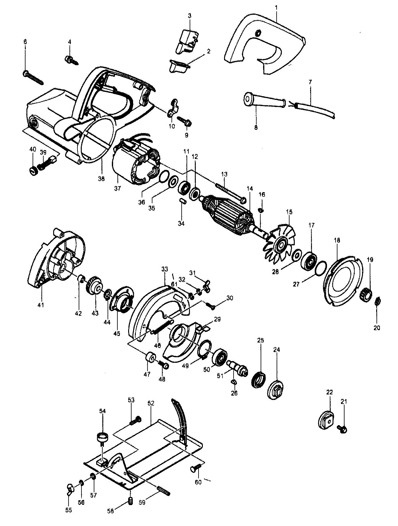 Makita model 4200NH circular saw genuine parts