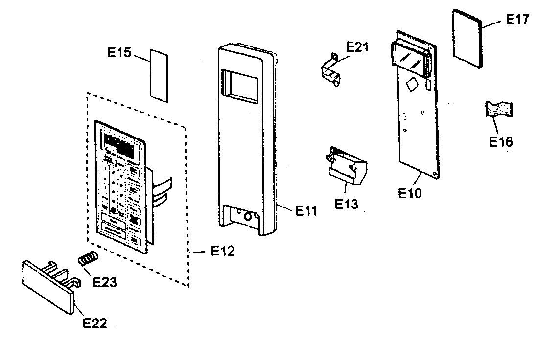 Panasonic model NN-T764SF countertop microwave genuine parts