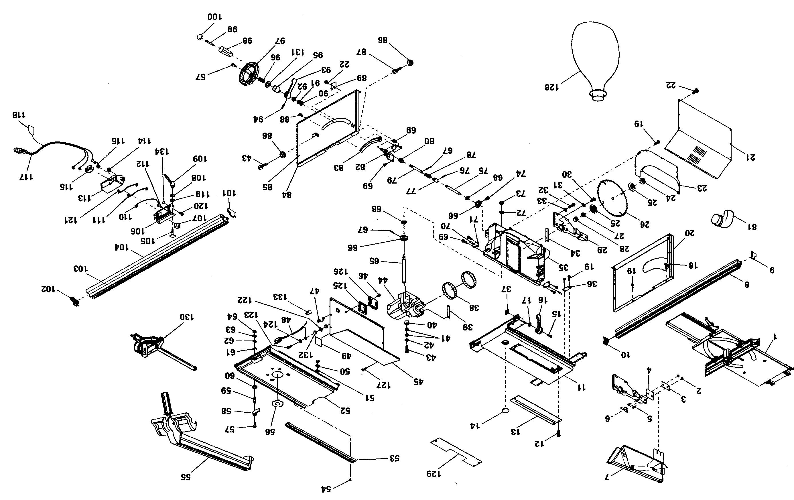 Craftsman model 315274130 table saw genuine parts
