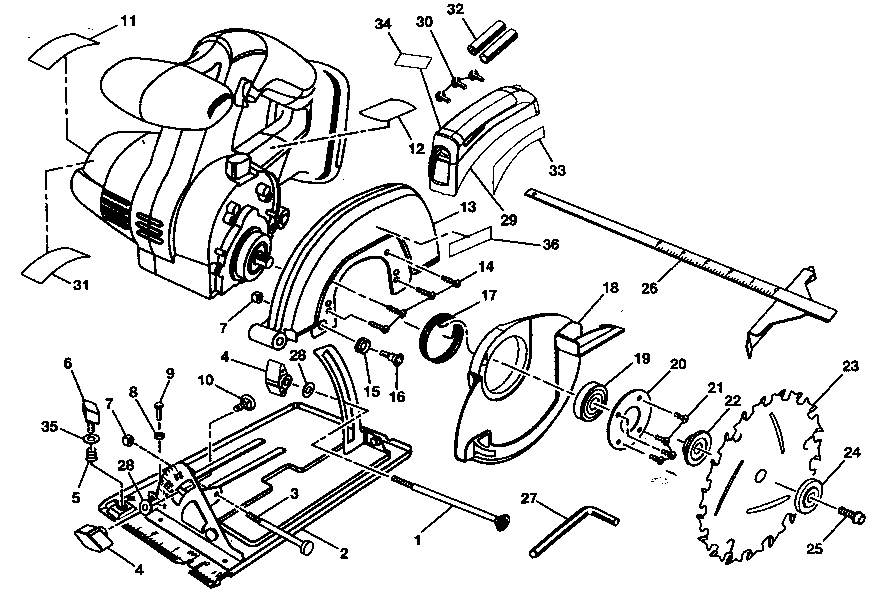 Craftsman model 315115161 circular saw genuine parts