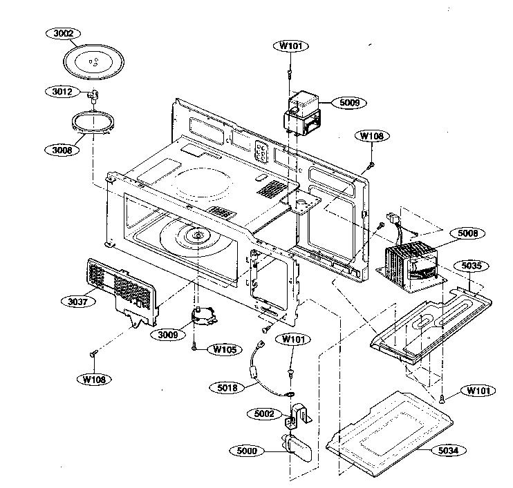Kenmore model 72180594402 microwave/hood combo genuine parts