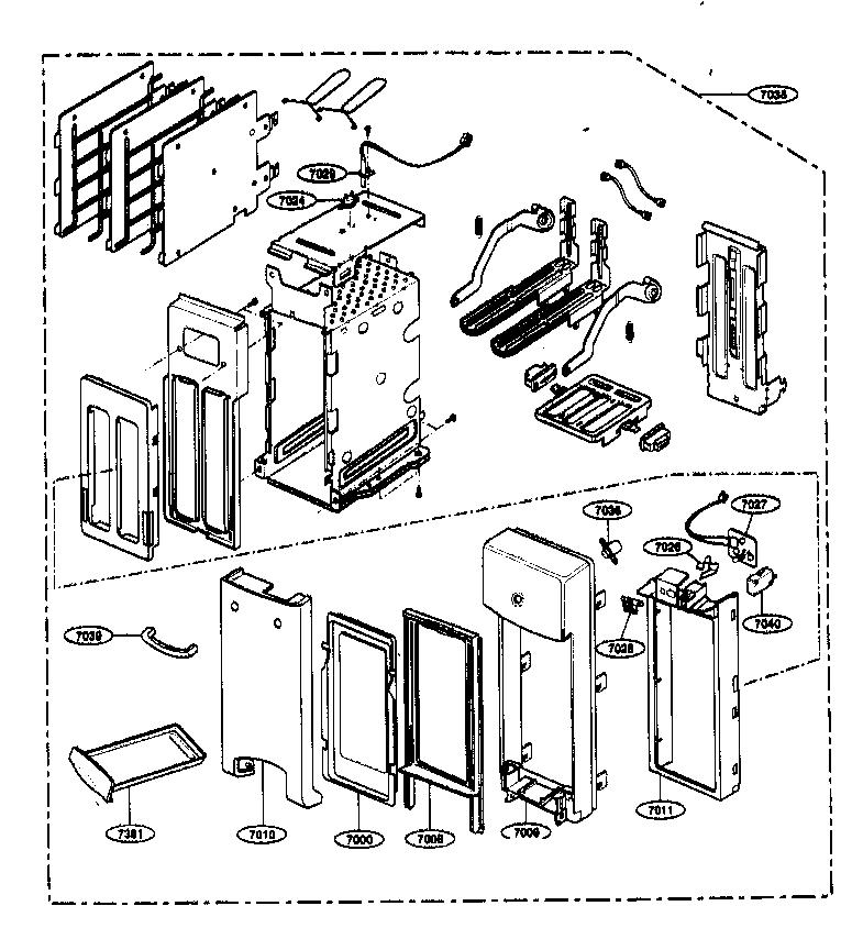 Kenmore model 72163299300 countertop microwave genuine parts