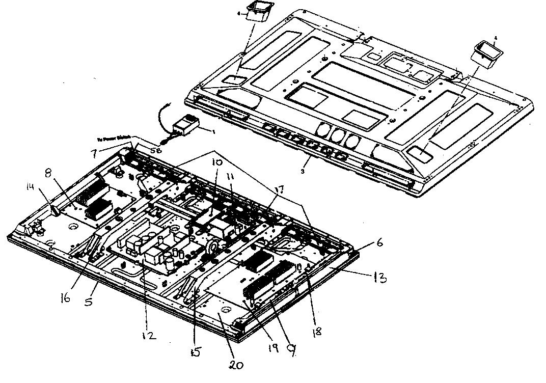 Pioneer model PDP-506PU plasma television genuine parts