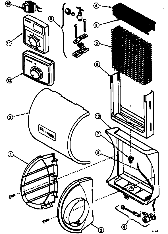 Honeywell model HE225B1004 humidifier genuine parts