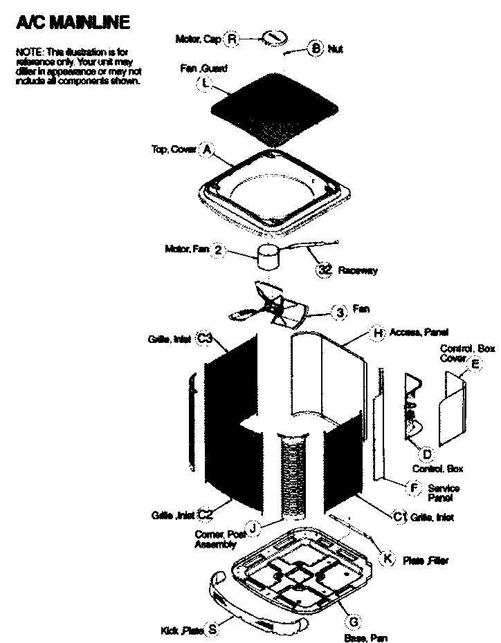 Icp model C2A336GKA100 air-conditioner/heat pump(outside
