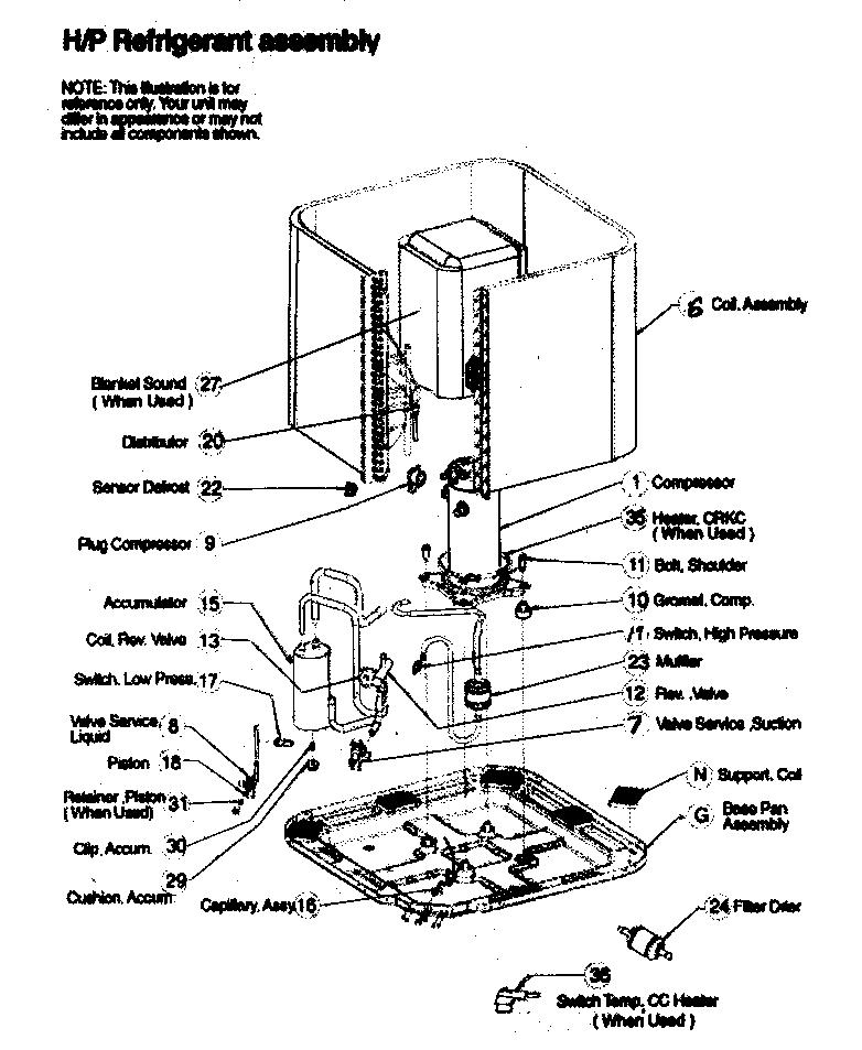 Icp model C2H330GKA100 air-conditioner/heat pump(outside