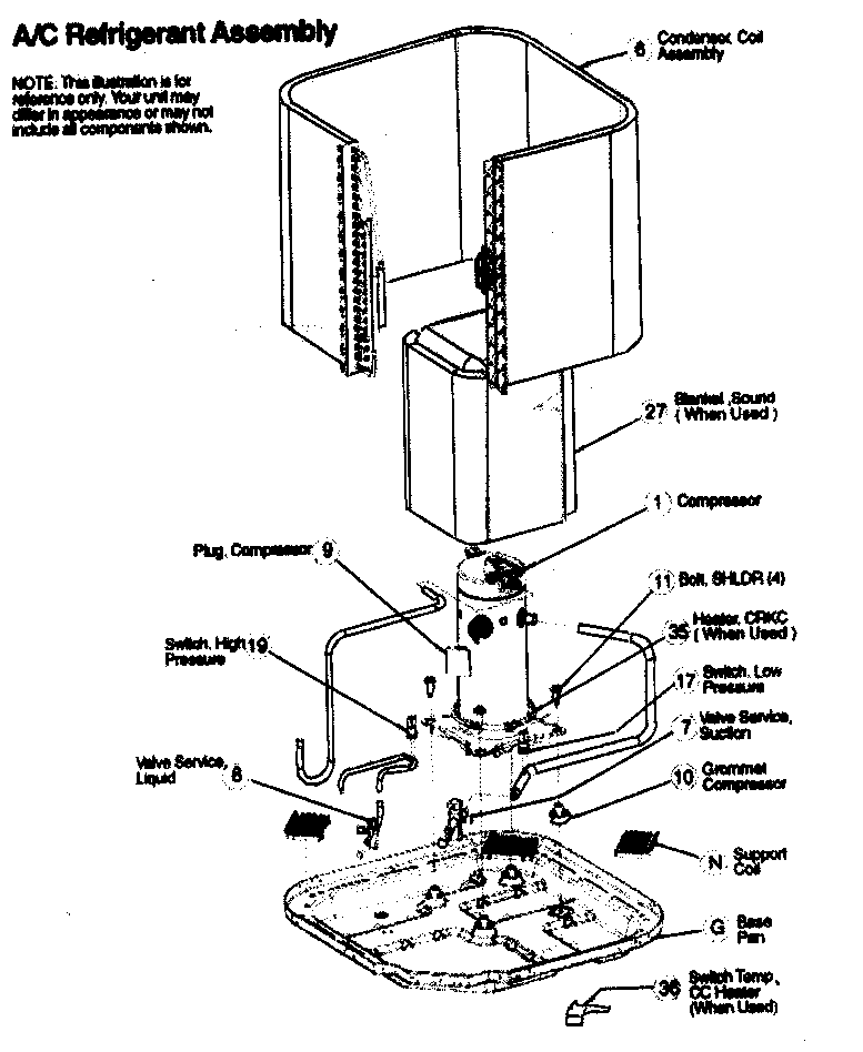 Icp model T2A360GKA100 air-conditioner/heat pump(outside