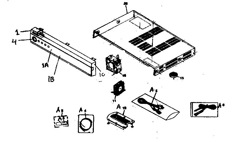 Pioneer model PDP-R05U plasma television genuine parts