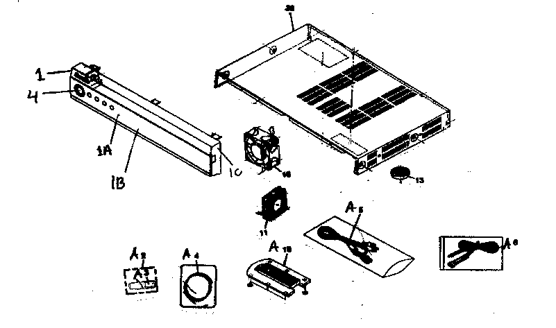 Pioneer model PRO-R05U plasma television genuine parts