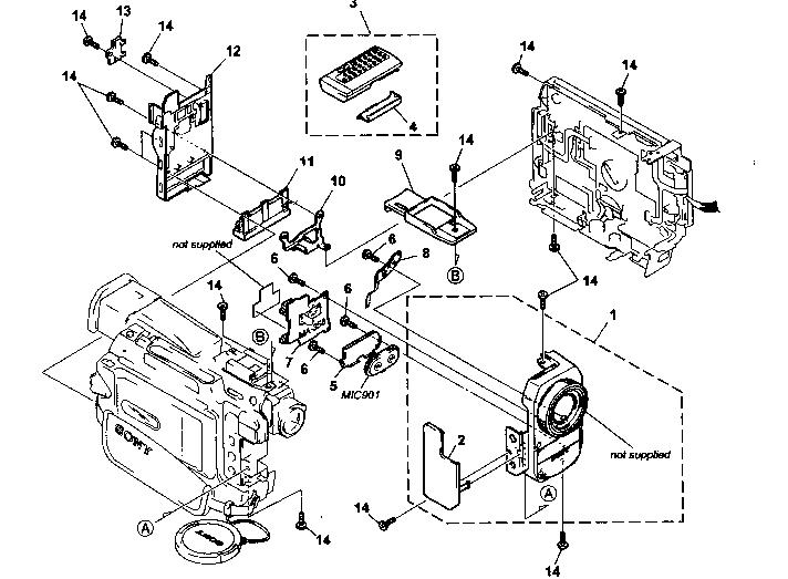 Sony model DCR-TRV10 digital camcorder genuine parts