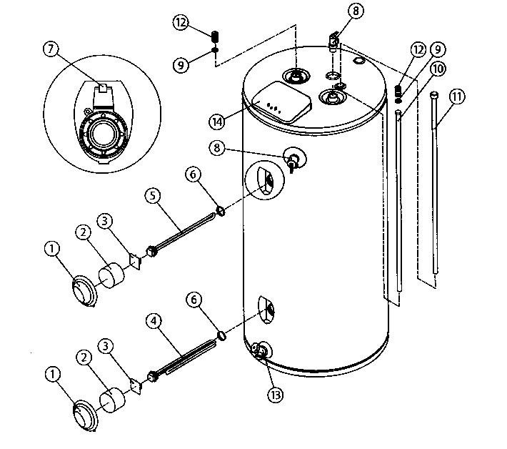 American-Water-Heaters model EE2H50HD045V water heater