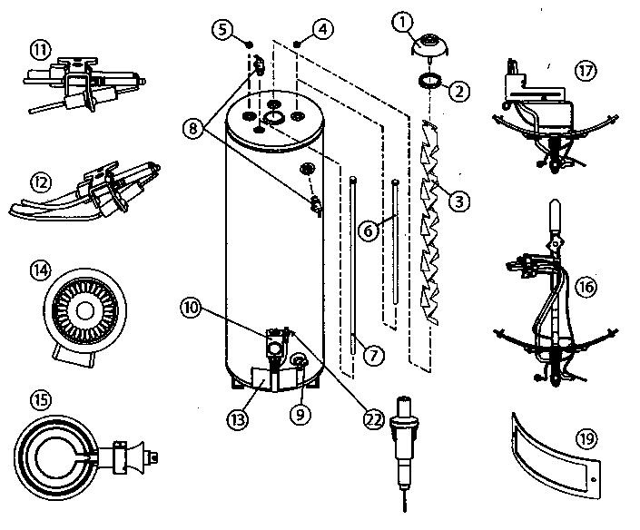 American-Water-Heaters model BFG1F4040S3NOV water heater
