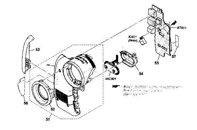 Sony model DCR-HC36 digital camcorder genuine parts