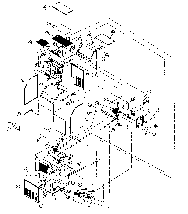 Franklin-Chef model FIM70 freestanding icemaker genuine parts