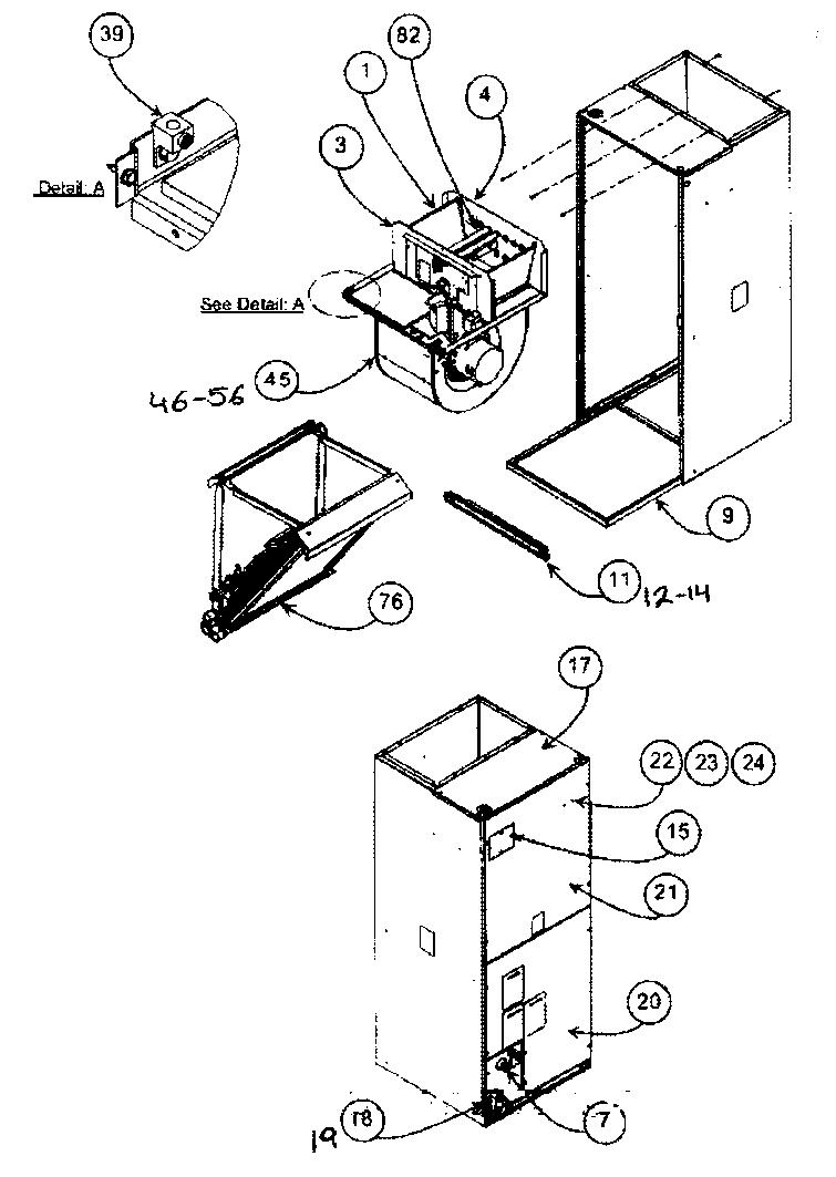 Carrier model FC4DNF042000 air handler (indoor blower&evap