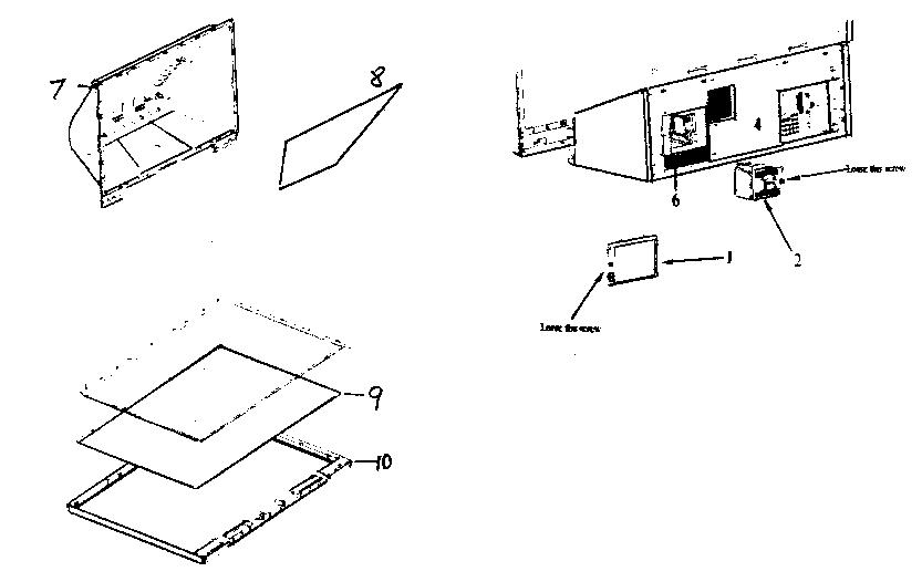 Hitachi model 50VS69 lcd television genuine parts