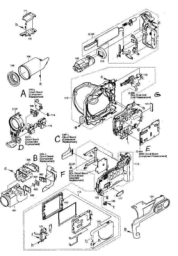 Hitachi model DZ-BX35A digital camcorder genuine parts