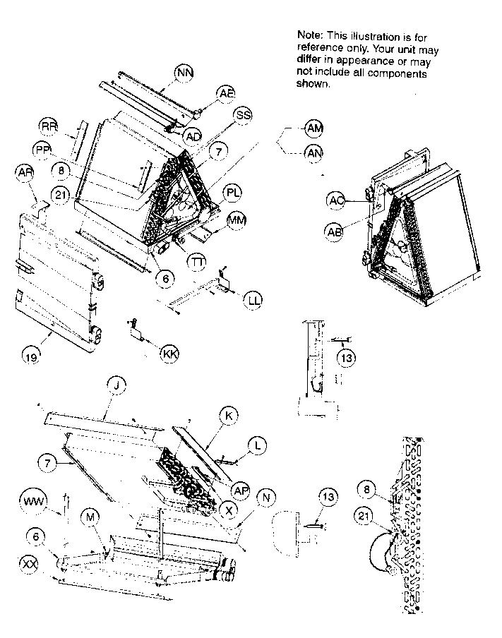 Icp model FSM4X4800A1 evaporator coils genuine parts