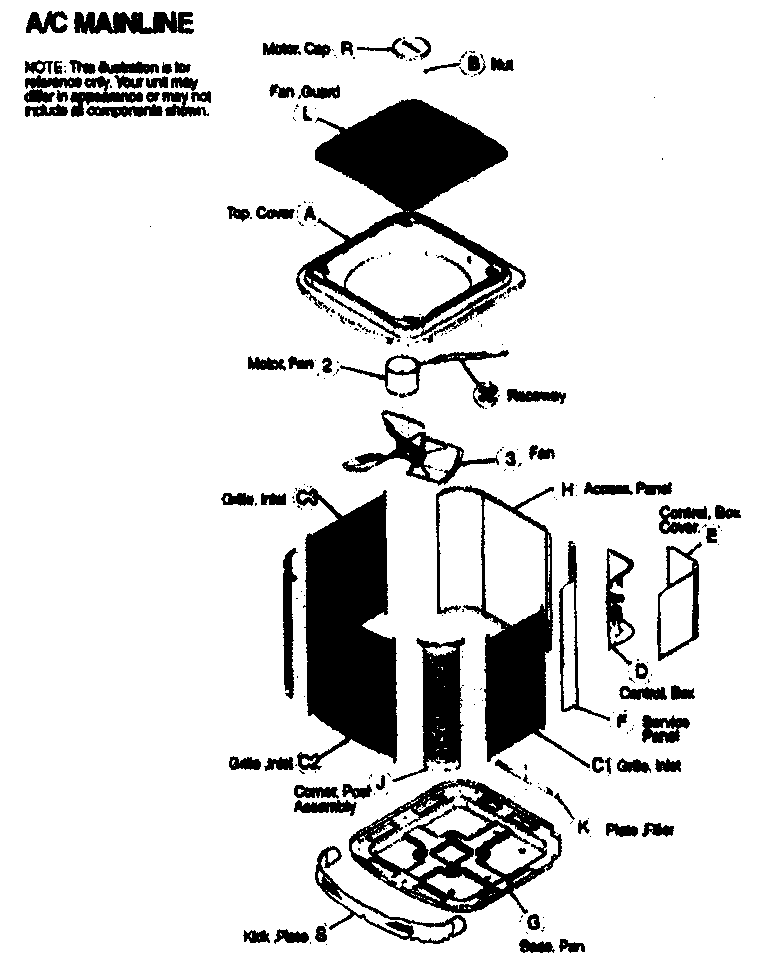 Icp model C4A424GKA100 air-conditioner/heat pump(outside