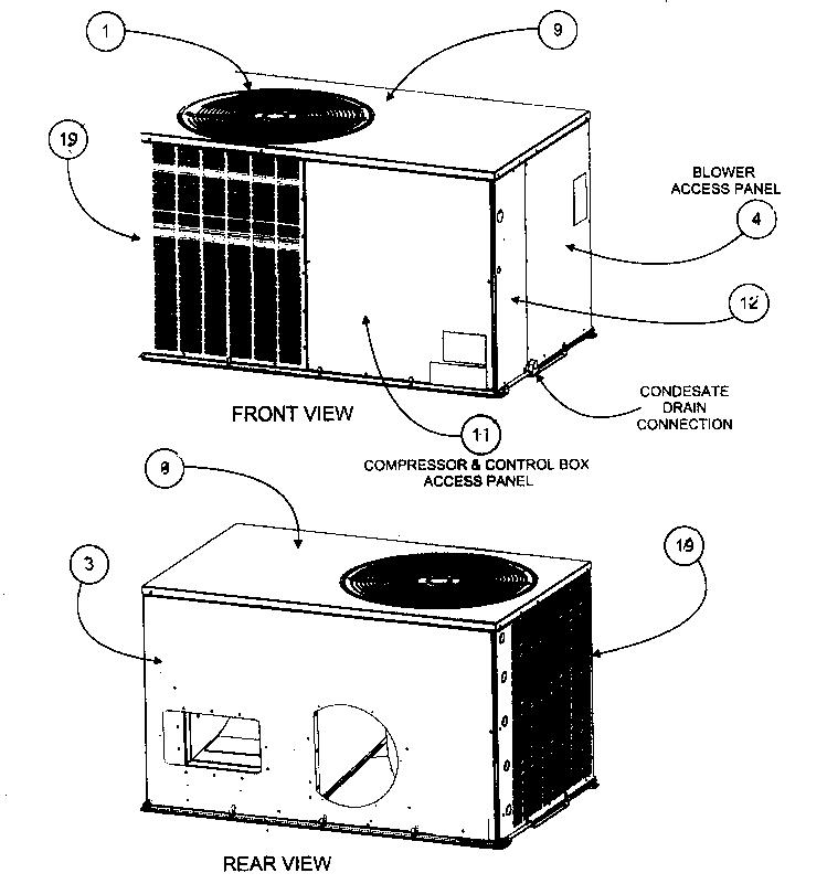 Payne model PA3ZNA030000AA package units(both units