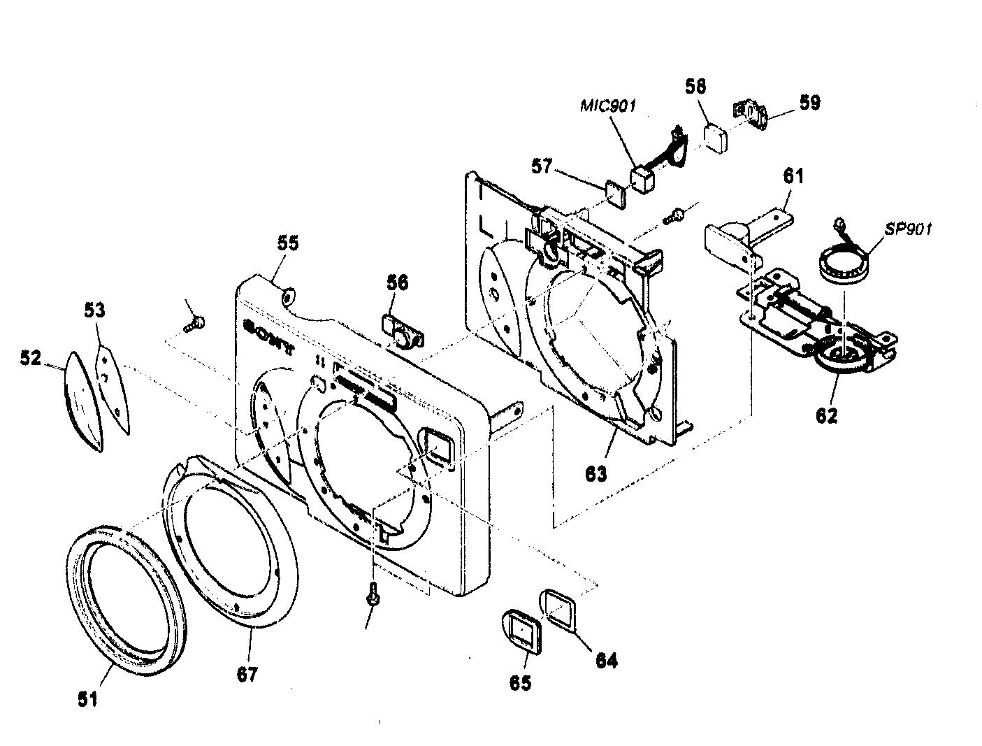 Sony model DSC-W7 cameras, all genuine parts