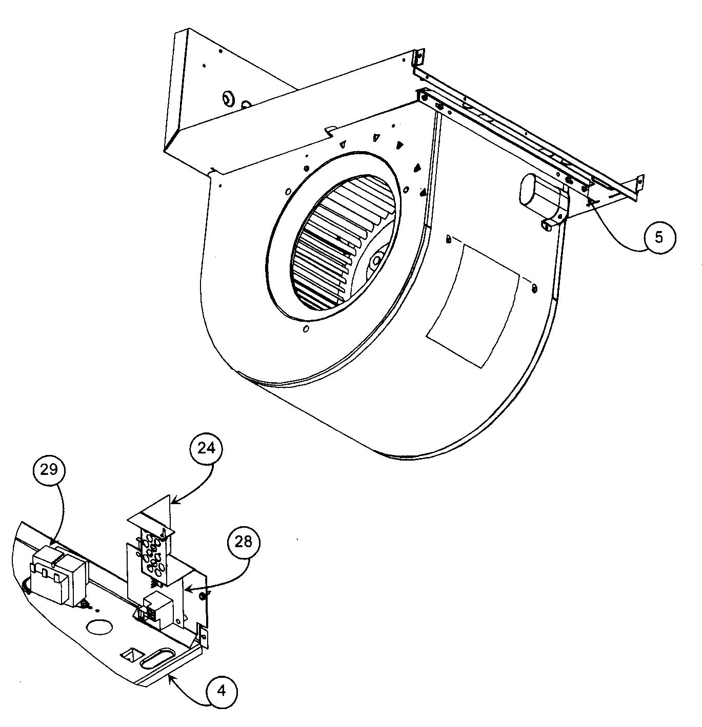 Carrier model FA4CNF036000AAAA air handler (indoor blower
