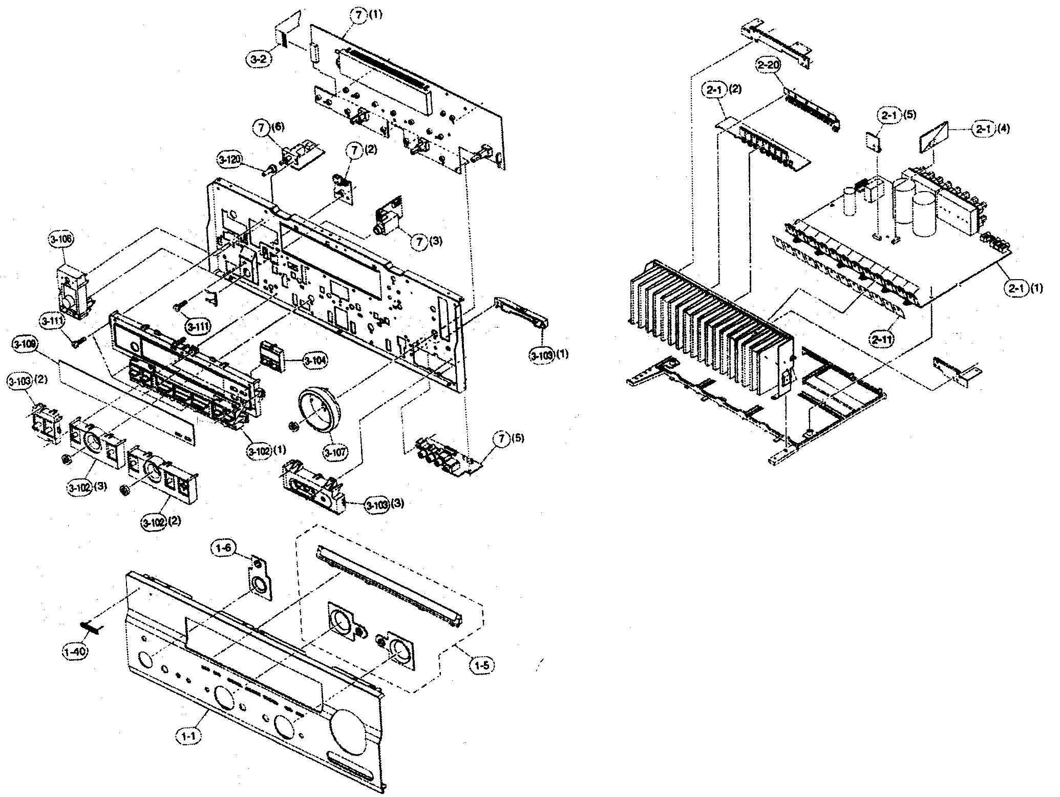 Yamaha model RX-V559 receivers genuine parts