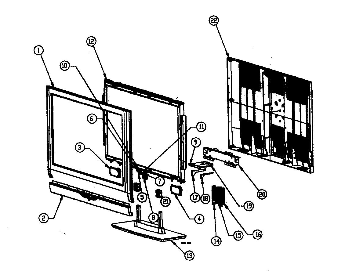 Westinghouse model LTV-40W1HDC tv/vcr or dvd combo genuine