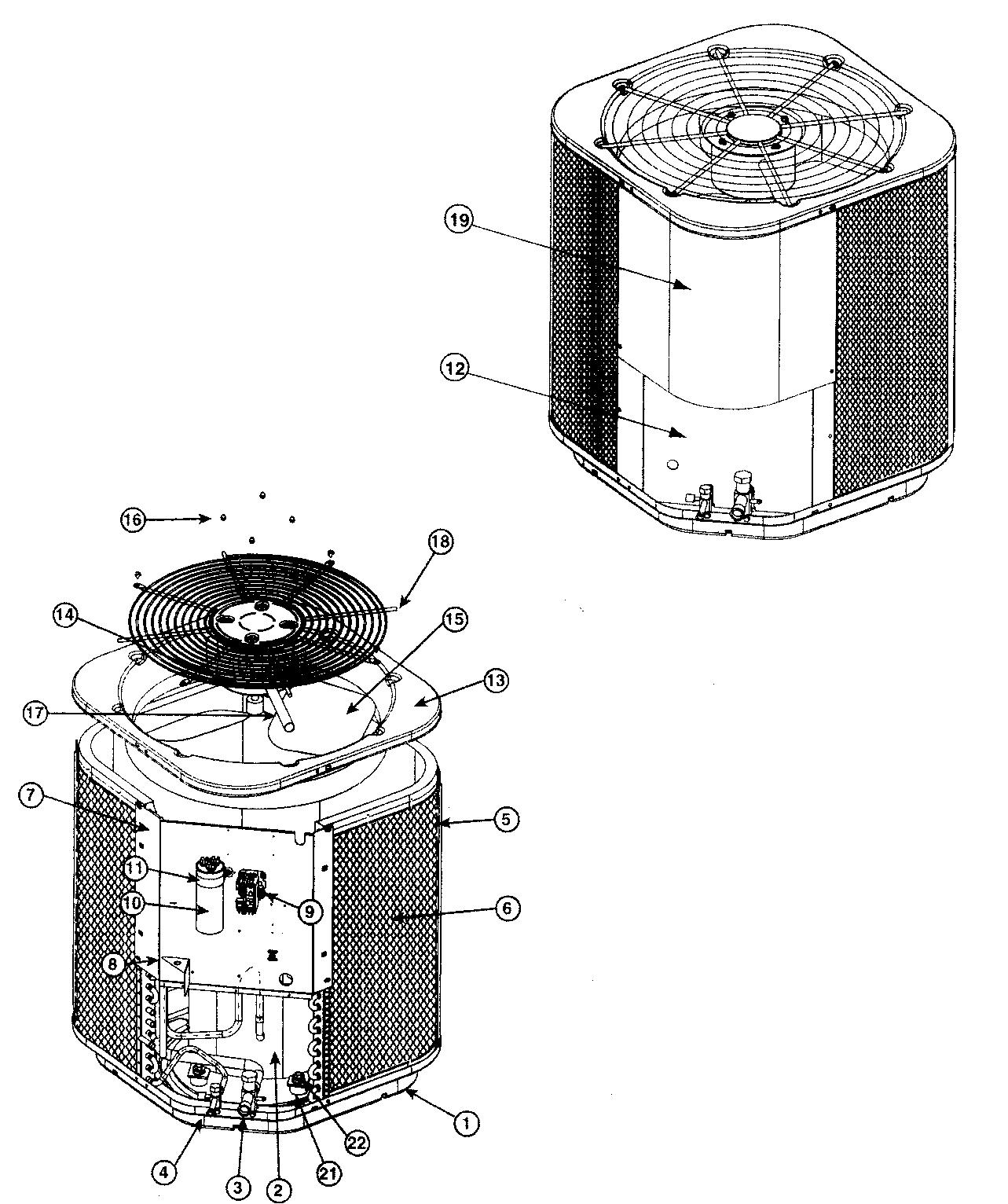 Nordyne model MS5QD-036K air-conditioner/heat pump(outside