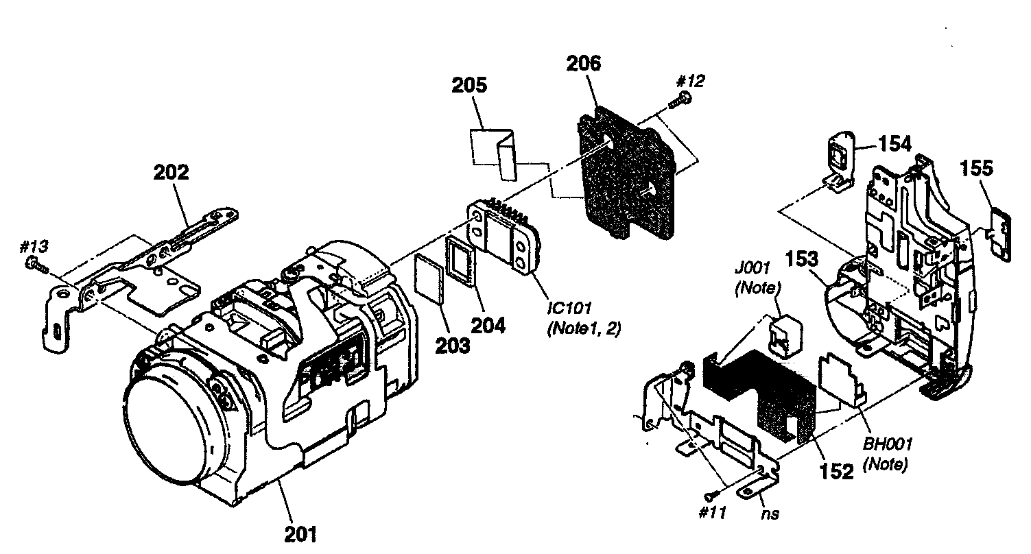 Sony model DCR-HC28 digital camcorder genuine parts
