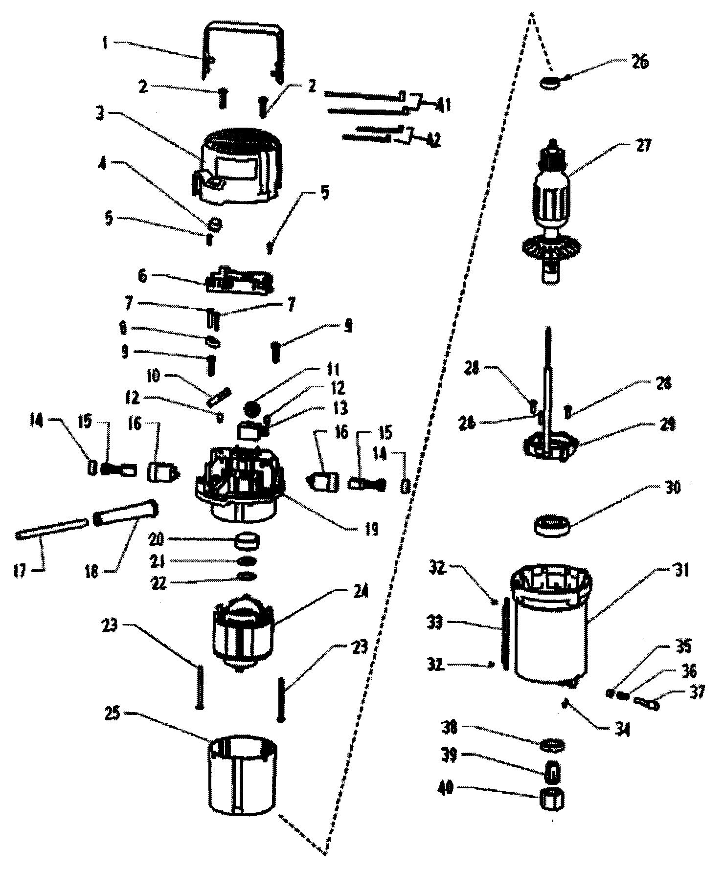 Craftsman model 32017540 router genuine parts