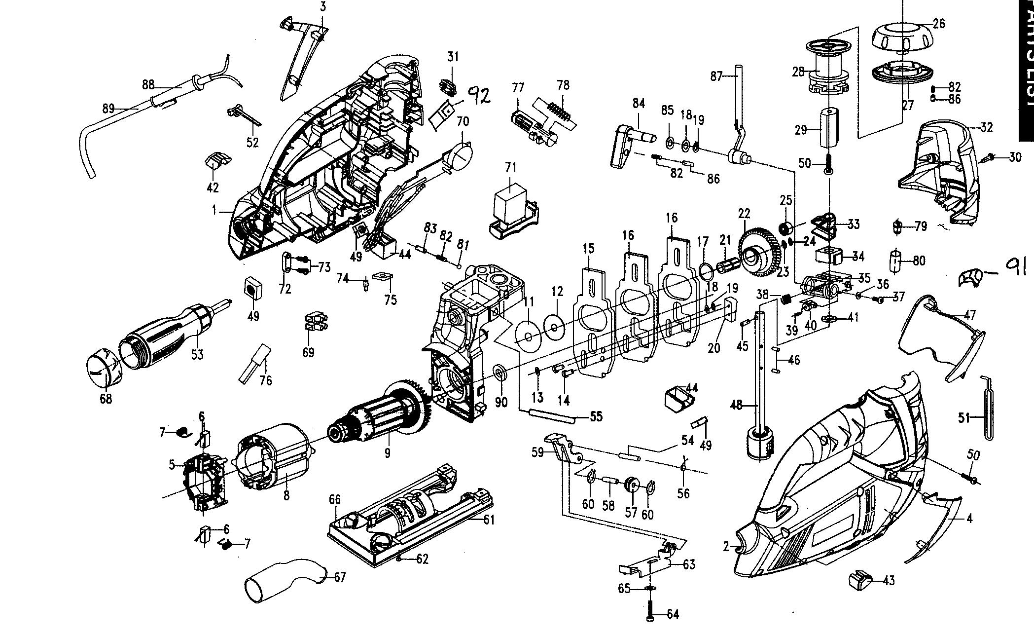 Craftsman model 32017256 saw sabre genuine parts