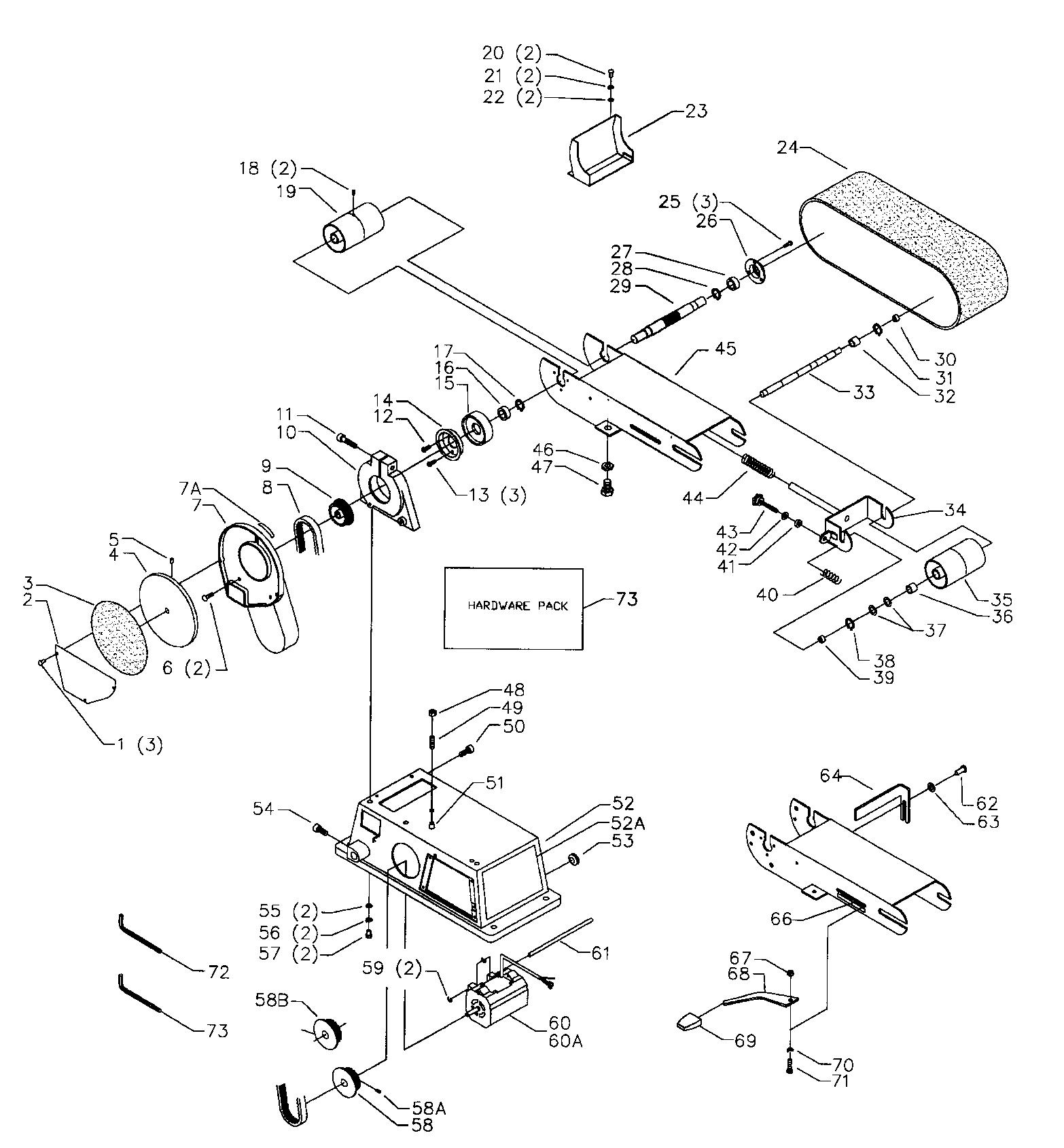 Delta model 31-460TY2 SN 9341/UP sander genuine parts