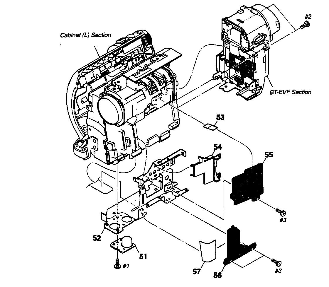 Sony model DCR-HC48 digital camcorder genuine parts