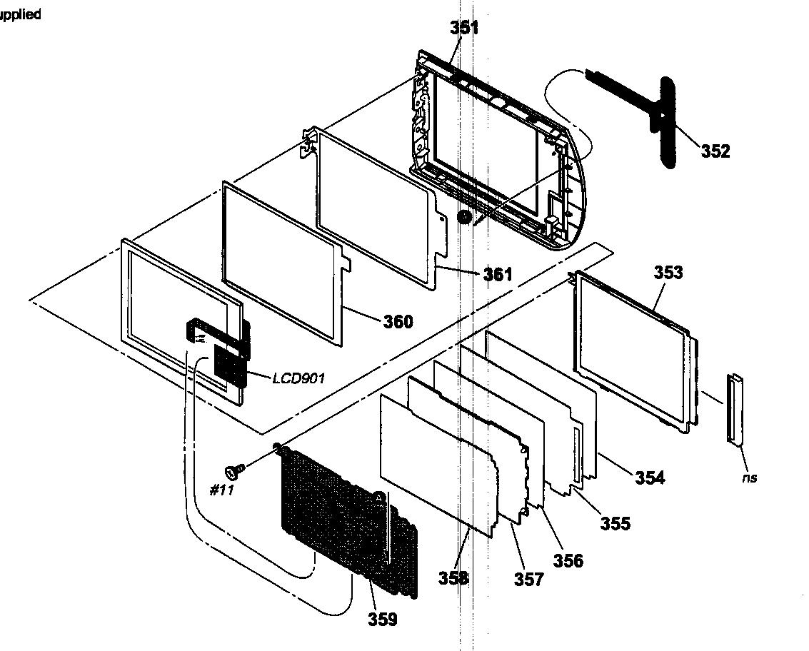 Sony model DCR-SR62 digital camcorder genuine parts