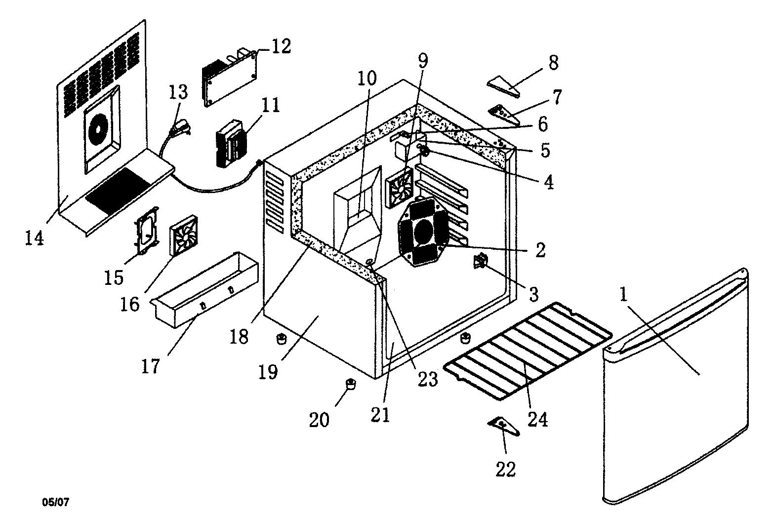 Haier model HRT02WNC under counter refrigerator genuine parts
